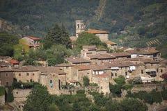 L'Italia, Toscana, zona di Chianti, villaggio di Montefioralle fotografia stock libera da diritti