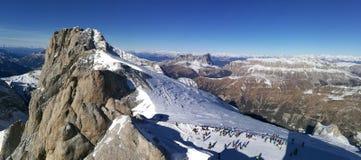L'Italia, Trentino, dolomia, sul ghiacciaio di Marmolada, panorama Immagini Stock