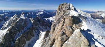 L'Italia, Trentino, dolomia, sul ghiacciaio di Marmolada, panorama Immagine Stock