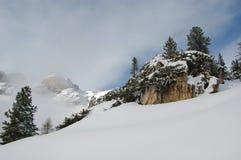L'Italia. Val di Fassa. Alpi delle dolomia Immagini Stock