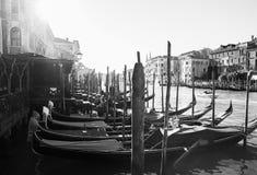 L'Italia, Venezia, il 25 febbraio 2017 foto in bianco e nero di Venic Fotografia Stock Libera da Diritti