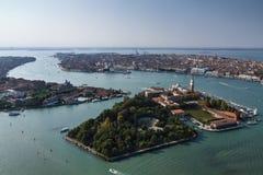 L'Italia, Venezia, vista aerea della città fotografia stock