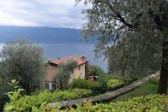 2016 L'Italia Villa in Gargnano Fotografia Stock Libera da Diritti