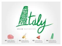 L'Italie à main levée Image libre de droits