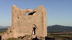 L'Italie, château médiéval en Toscane banque de vidéos
