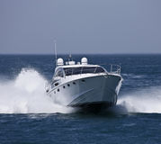 l'Italie, compartiment de Circeo (Rome), yacht de luxe photos libres de droits