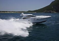 l'Italie, compartiment de Circeo (Rome), yacht de luxe image libre de droits