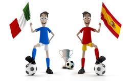 l'Italie contre l'Espagne illustration libre de droits