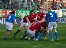 l'Italie contre le Pays de Galles, rugby de six nations Photos libres de droits