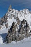 L'Italie, Courmayeur, chaîne de Mont Blanc Photo stock