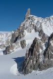 L'Italie, Courmayeur, chaîne de Mont Blanc Image libre de droits