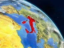 L'Italie de l'espace illustration libre de droits
