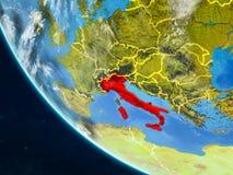 L'Italie de l'espace sur terre illustration libre de droits
