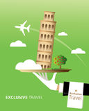 L'Italie, destination Illustration Stock
