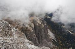 L'Italie, dolomites, culot Pordoi Photographie stock libre de droits
