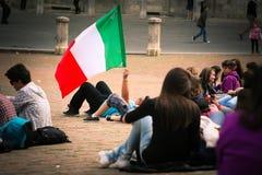 L'Italie (drapeau italien) Image stock
