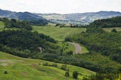 L'Italie du nord - collines vertes Image stock