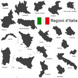 L'Italie et les régions illustration de vecteur