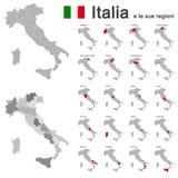 L'Italie et les régions Photo libre de droits