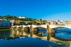 L'Italie, Florence, pont, réflexion Photos libres de droits