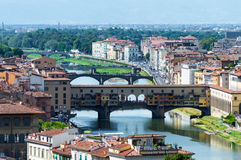 L'Italie, Florence, Ponte Vecchio Photo stock