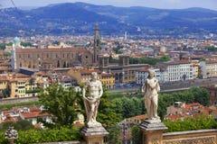 l'Italie Florence Vue de la ville sur le dessus image libre de droits