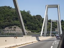 L'Italie, Gênes, pont de Morandi Image stock