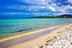 l'Italie kitesurfing Images libres de droits