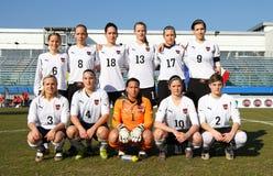 l'Italie - l'Autriche, le football femelle U19 ; allumette amicale Image libre de droits