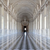 l'Italie - le Royal Palace : Galleria di Diana, Venaria Photos libres de droits