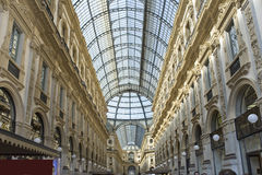 L'Italie, les galeries de Milan Vittorio d'Emmanuil II Images stock