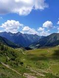 L'Italie, Lombardie, Foppolo, Alpes d'Orobie, trekking traîne image libre de droits