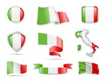 L'Italie marque la collection Photographie stock