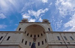 L'Italie - mars 2019 : La cour du pin à Rome, Vatican, constitue l'extrémité nord du grand belvédère de la Renaissance images stock