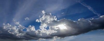 l'Italie, nuages au coucher du soleil photo stock