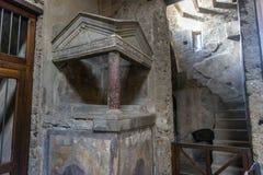 L'Italie, Pompéi, 02,01,2018 Casa del Menandro (Chambre de Menan Photo libre de droits