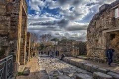 L'Italie, Pompéi, rue 02,01,2018 à Pompeii, Italie Image stock
