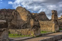 L'Italie, Pompéi, rue 02,01,2018 à Pompeii, Italie Pompeii est a Images stock