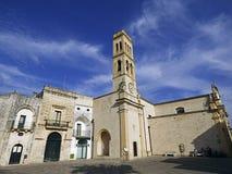 L'Italie Pouilles Lecce Salento Specchia, église de mère photographie stock