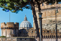 L'Italie, Rome, castel Angelo sant Photographie stock libre de droits