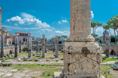 L'Italie, Rome, ruines Photo stock