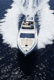 l'Italie, Sicile, île de Panaresa, yacht de luxe Photographie stock