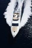 l'Italie, Sicile, île de Panaresa, yacht de luxe Image libre de droits