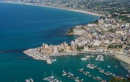 L'Italie, Sicile, Castellammare del Golfo Photo libre de droits