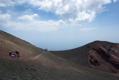 L'Italie, Sicile, montée de volcan de l'Etna images stock