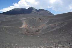 L'Italie, Sicile, montée de volcan de l'Etna photographie stock