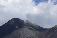 L'Italie, Sicile, montée de volcan de l'Etna image stock