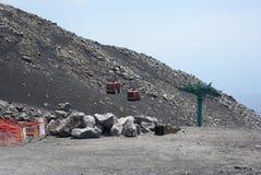 L'Italie, Sicile, montée de volcan de l'Etna photos libres de droits