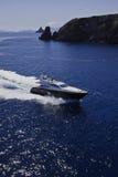 l'Italie, Sicile, vue aérienne de yacht de luxe Photos libres de droits