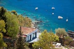 L'Italie, Sicile Vue de belle mer ionienne image stock